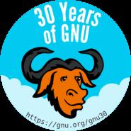 gnu-30-badge
